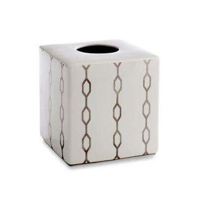 Kassatex Cadena Porcelain Boutique Tissue Box Cover