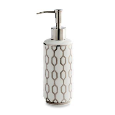 Kassatex Cadena Porcelain Lotion Dispenser