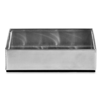 Metallic Silver Soap Dish