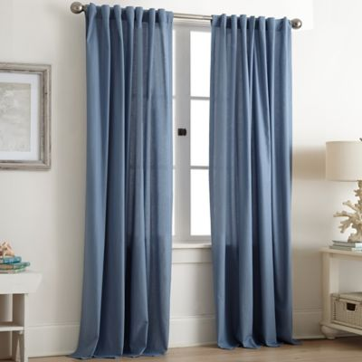Abby Rod Pocket 84-Inch Window Curtain Panel in Chambray
