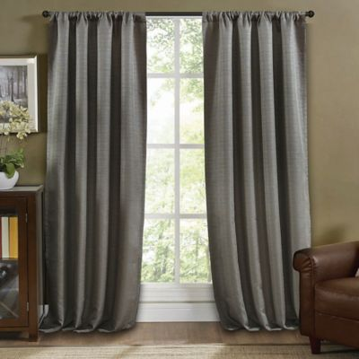 Arbor Lined 63-Inch Window Curtain Panel in Linen