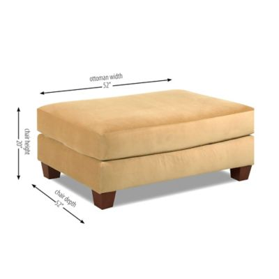 Klaussner Canyon Ottoman in Beige