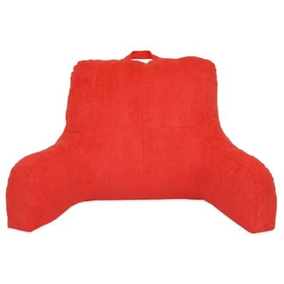 Faux Suede Backrest in Red Orange