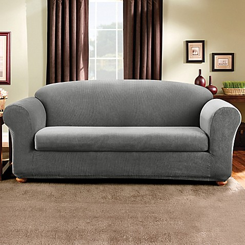 Buy Sure Fit 174 Madison Stripe 2 Piece Sofa Slipcover In