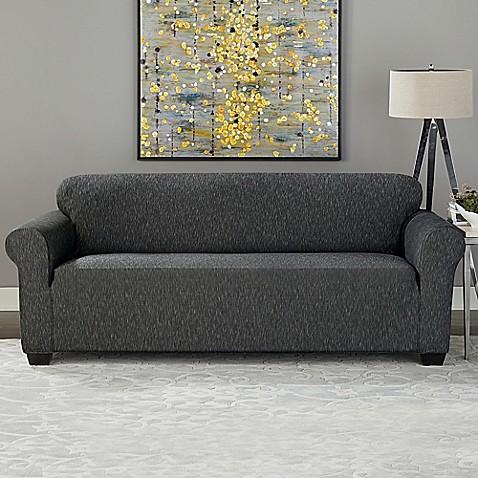 Sure Fit 174 Designer Denim 1 Piece Sofa Slipcover In Black