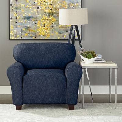 Sure Fit® Designer Denim 1-Piece Chair Slipcover in Black