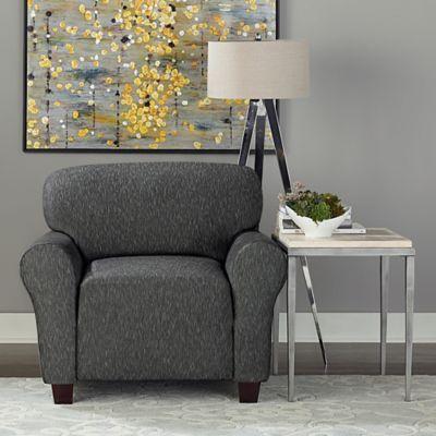 Sure Fit® Designer Denim 1-Piece Chair Slipcover in Black