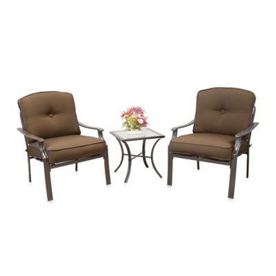 Hawthorne 3-Piece Deep Seating Chair Set in Terracotta