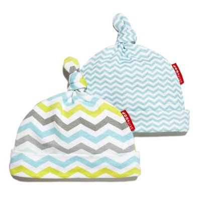 SKIP*HOP® Chevron Stripe 2-Pack Baby Hat in Blue