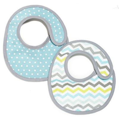 SKIP*HOP® 2-Pack Reversible Bib in Blue