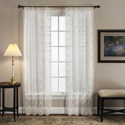 Today's Curtain Richmond Macram 84-Inch Window Curtain Panel in White