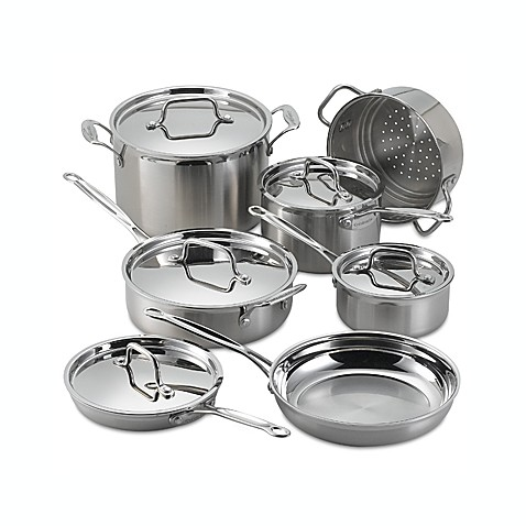 12-Piece Cookware Set - cuisinart stainless steel cookware