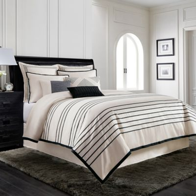 Wamsutta® Manhattan Full/Queen Duvet Cover in Cream/Black