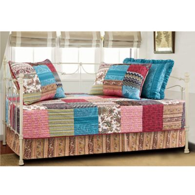 New Bohemian Quilted Reversible Daybed Set in Multi