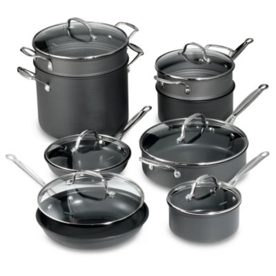 Hard-Anodized 14piece Cookware Set