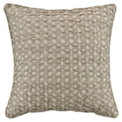 Crystal Square Throw Pillow in Tan