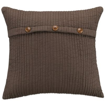 Sierra Square Throw Pillow in Brown