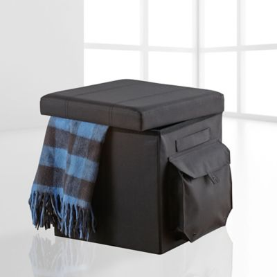 Studio 3B Cargo Folding Ottoman in Black