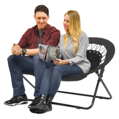 Idea Nova Double Saucer Folding Chair in Black