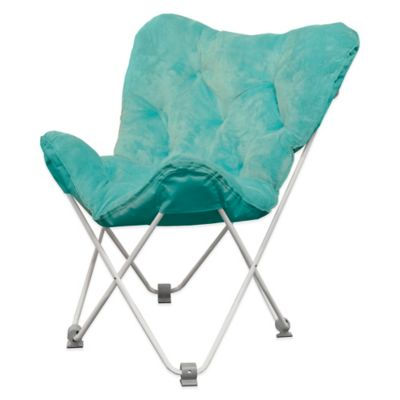 Tufted Folding Butterfly Chair in Aqua