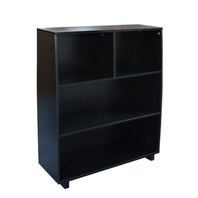 3-Tier Bookcase in Black