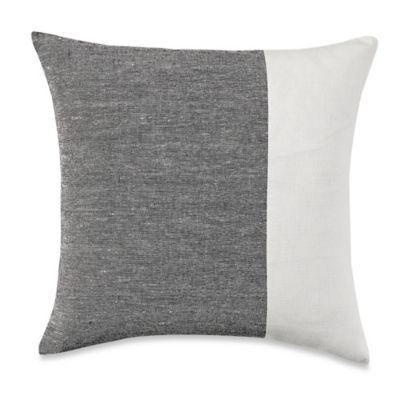 Wamsutta® Manhattan Square Throw Pillow in Cream/Grey