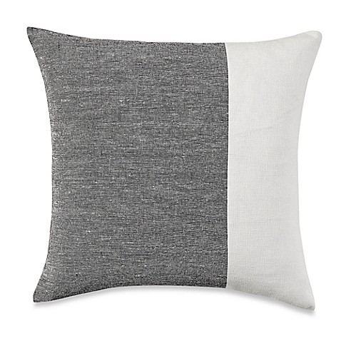 Grey Throw Pillows For Bed : Wamsutta Manhattan Square Throw Pillow in Cream/Grey - Bed Bath & Beyond