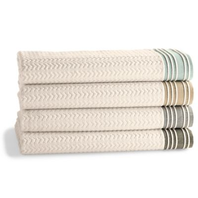 Kassatex Soho Bath Towel in Aqua
