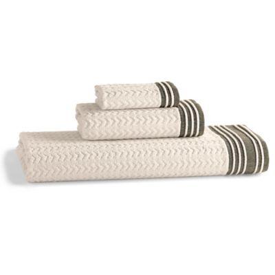 Kassatex Soho Bath Towel in Chocolate