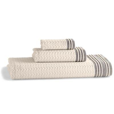 Kassatex Soho Hand Towel in Grey
