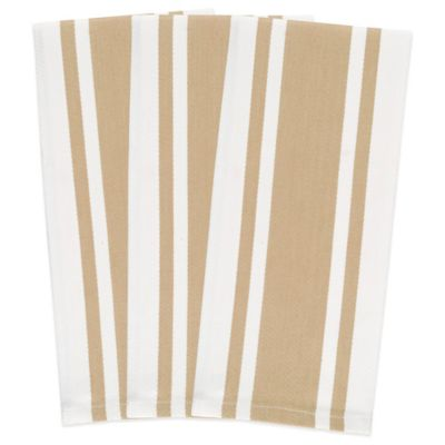 Biscotti Heavyweight Striped Kitchen Towels (Set of 3)