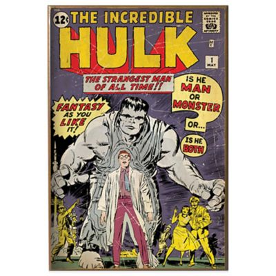 "Hulk ""Man or Monster?"" Wall Décor Plaque"