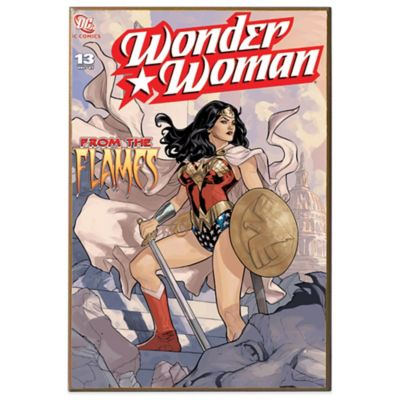 Wonder Woman Flames Wall Décor Plaque
