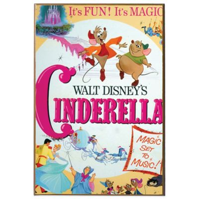 Disney Cinderella Movie Poster Wall Décor Plaque