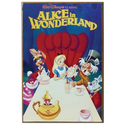 Disney Alice in Wonderland Movie Poster Wall Décor Plaque