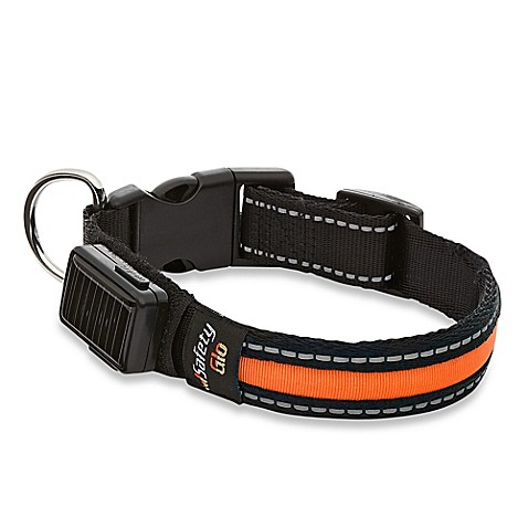 SafetyGlo™ Small LED Pet Collar in Orange