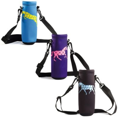 Tek Trek Neoprene Bottle Carrier with Horse Graphic in Light Blue