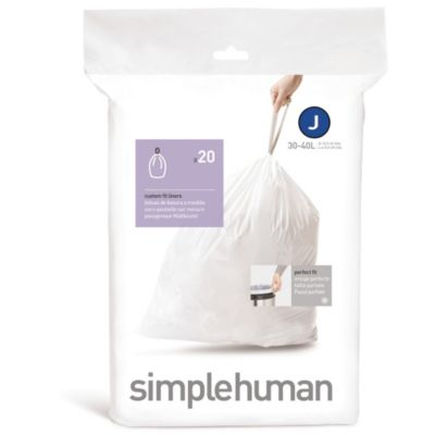 simplehuman® 20-Pack Code J Custom Fit 38/40-Liter Can Liners