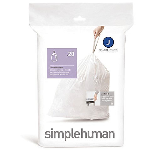 simplehuman® Code J 20-Pack 10.5-Gallon Custom Fit Liners