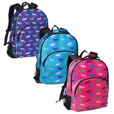 Tek Trek Backpack with Horse Print in Pink