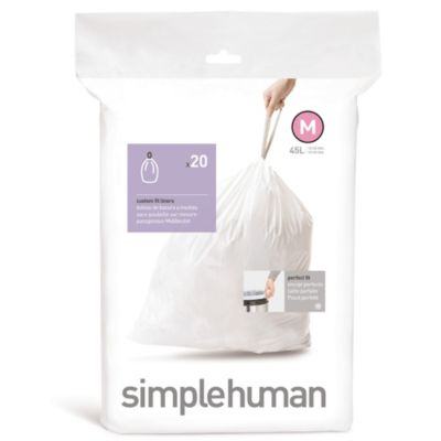 simplehuman® 20-Pack Code M Custom Fit 45-Liter Can Liners
