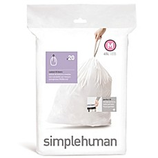 simplehuman® Code M 20-Pack 12-Gallon Custom Fit Liners