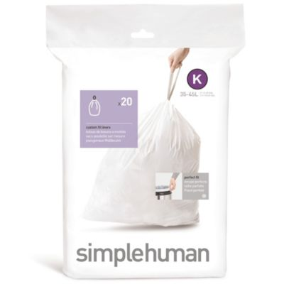 simplehuman® 20-Pack Code K 20-Pack Custom Fit 38-Liter Can Liners