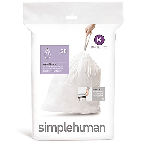 simplehuman® Code K 20-Pack 12-Gallon Custom Fit Liners