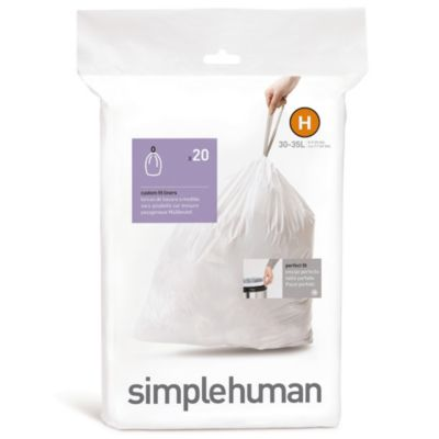 simplehuman® 20-Pack Code H Custom Fit 30-Liter Can Liners