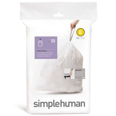 simplehuman® Code E 20-Pack 5.2-Gallon Custom Fit Liners