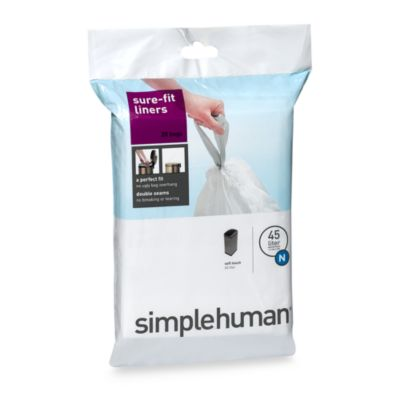 simplehuman® 20-Pack Code N Custom Fit 45-Liter Can Liners