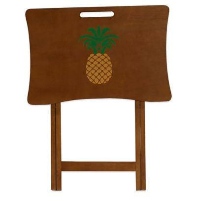 Elements Pineapple Design Tray Table