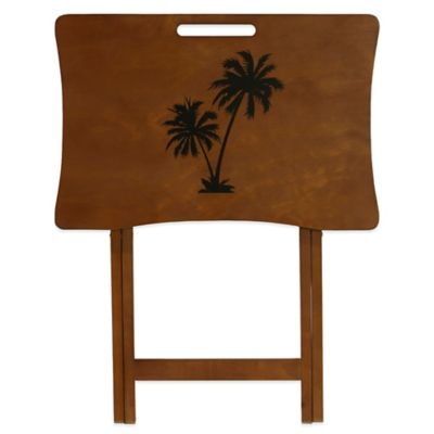 Elements Palm Tree Design Tray Table
