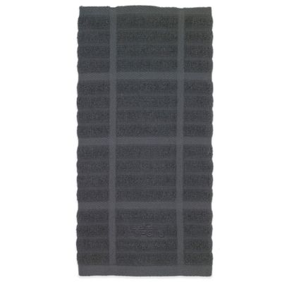 All-Clad Solid Kitchen Towel in Pewter